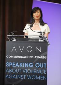FEBRUARY 28: Avon Chairman & CEO Andrea Jung announces the winners of the Avon Communications Awards: Speaking Out About Violence Against Women at the 2nd World Conference of Women's Shelters