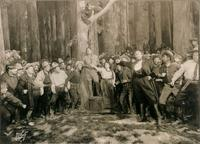 The closing scene from the world premiere of La Fanciulla del West at the Met on Dec. 10, 1910