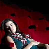 Sleeping at the theater