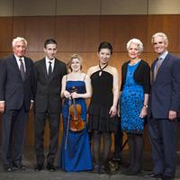 The winners of the Avery Fisher Career Grants for 2011, together with Nathan Leventhal, Chairman, Avery Fisher Artist Program, Nancy Fisher and Charles Avery Fisher.