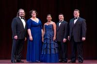 2012 National Council Audition Winners (L-R): Andrey Nemzer, Margaret Mezzacappa, Janai Brugger, Matthew Grills, and Anthony Clark Evans