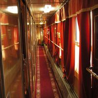 Inside of a Russian express train.