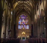 inside Trinity Church in Manhattan