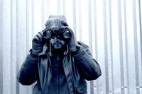 spy, binoculars