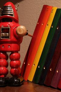 robot with a xylophone