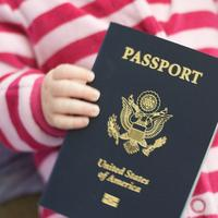 baby passport stripes