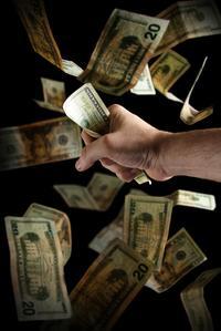 money, hand, grab