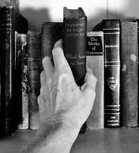 reaching for a book
