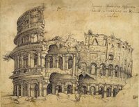 At the Met: Jan Gossart's sketch of the Colosseum in Rome. The Netherlandish master is often credited with introducing the Italian Renaissance style to northern Europe.