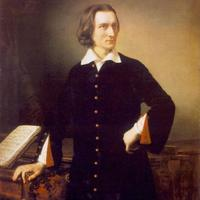 Franz Liszt, portrait by Miklós Barabás, 1847