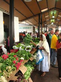 woman at a farmers market in St. Paul, Minnesota