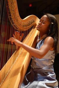 Harpist Angelica Hairston