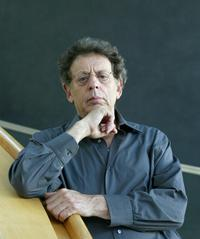 Philip Glass poses on 05 September 2005 at the theatre of Erfurt, Germany