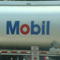 A Mobil gas truck.