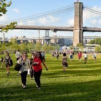 The view at Brooklyn Bridge Park