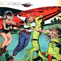 Detail of the cover to Buster Crabbe Comics #9 (1953)