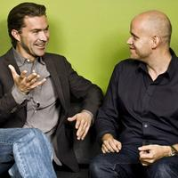 Spotify founders Daniel Ek and Martin Lorentzon, sitting pretty.