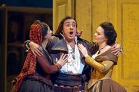 Rodion Pogossov as Figaro in Rossini's'Il Barbiere di Siviglia' at the Met