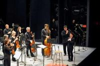 Musicians of the NYPO, Alan Gilbert, and Sean Shepherd at <em>CONTACT!</em>