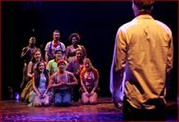 The cast of Godspell