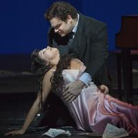 Anna Netrebko as Antonia and Joseph Calleja as Hoffmann in Offenbach's