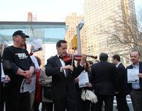 Musicians from Local 802 protest recorded music at Lincoln Center