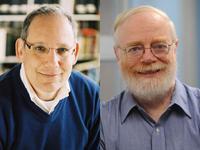Novelist David Leavitt (left) and cryptographer Steve Bellovin (right)