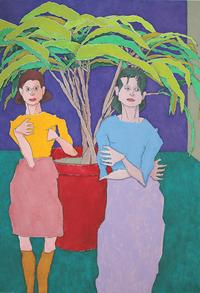 Mother and Daughter, 2002, painted by AARON