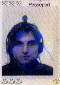 Neil Harbisson's passport photo