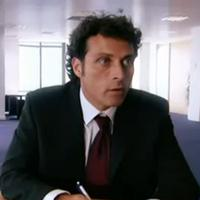Screenshot of Rufus Sewell in 9/11: Out of the Blue, produced for the UK's Channel 5