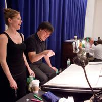 Barbara Hannigan (Gepopo) rehearses Le Grand Macabre with Alan Gilbert at New 42nd Street Studios