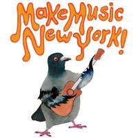 Make Music New York pigeon playing the guitar