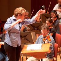 Marin Alsop leads the final rehearsal of the BSO Summer Academy Orchestra
