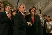 Mayor Michael Bloomberg and City Council Speaker Christine Quinn announce an agreement for a budget for Fiscal Year 2011