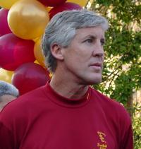 Pete Carroll at the USC 2005 National Championship award rally
