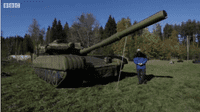 An inflatable Russian tank