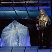 Bryn Terfel in an early rehearsal of Das Rheingold at the Met