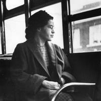 Rosa Parks on a bus