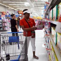 Tanya Johnson shops in the toy department of the Wal-Mart store on October 8, 2009 in Pompano Beach, Florida.