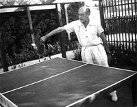 Arnold Schoenberg enjoyed a game of table tennis in LA