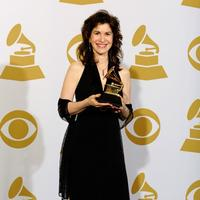Sharon Isbin poses with her Grammy award in 2010.