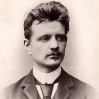 Jean Sibelius around the year 1889 or 1890