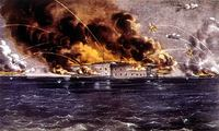 Bombardment of Fort Sumter (1861) by Currier & Ives (1837–1885).