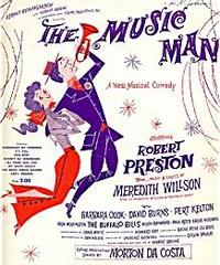 The Music Man original theatre poster.
