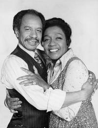 Publicity photo of American actors Sherman Hemsley and Isabel Sanford promoting their roles on the television series The Jeffersons.