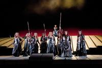 A scene from Act Three of Wagner's 'Die Walküre' at the Met