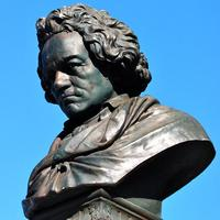 statue of Ludwig van Beethoven in Golden Gate park
