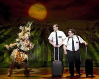 From left, Rema Webb, Andrew Rannells and Josh Gad perform in 'The Book of Mormon' at the Eugene O'Neill Theatre in New York.