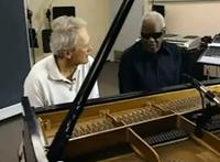 Clint Eastwood and Ray Charles in 'The Piano Blues'