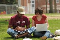 Earlham College Students Studying